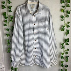 VANS Horizontal Striped Long Sleeves Button Up Top